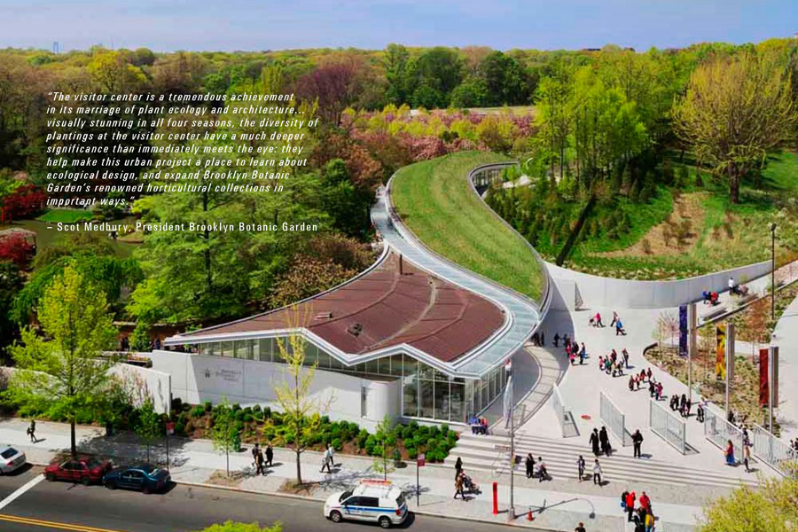 Landscaped Gardens Facility: HM White, Brooklyn Botanic Garden Visitor Center